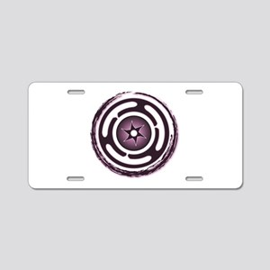 Purple Hecate's Wheel Aluminum License Plate
